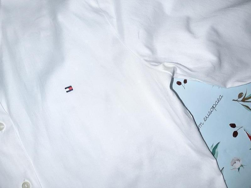 Бесплатная доставка!  базовая белая рубашка блуза tommy hilfig... - Фото 5