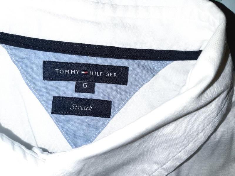 Бесплатная доставка!  базовая белая рубашка блуза tommy hilfig... - Фото 8