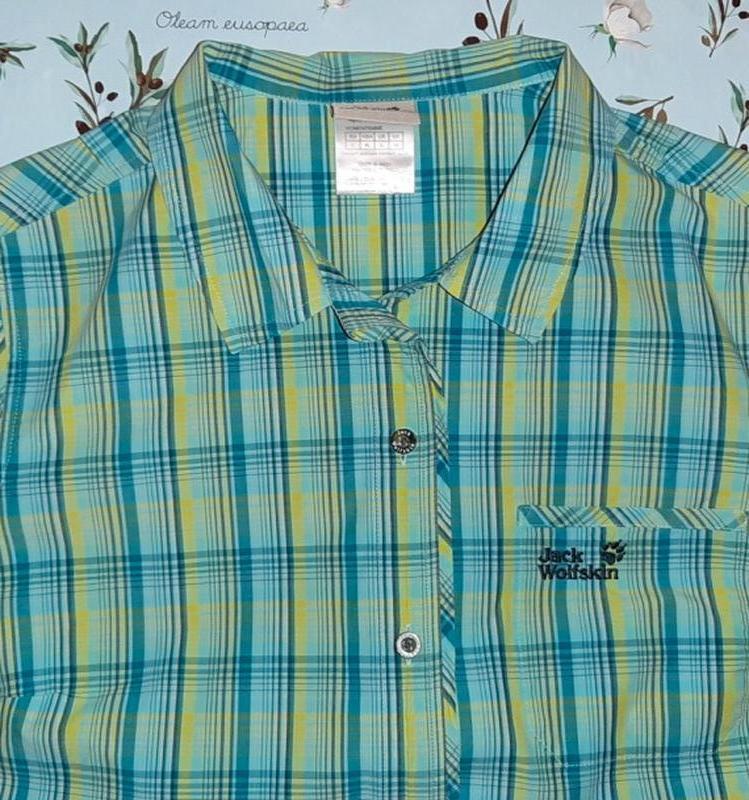 Блуза рубашка в клетку jack wolfskin оригинал, размер 50 - 52