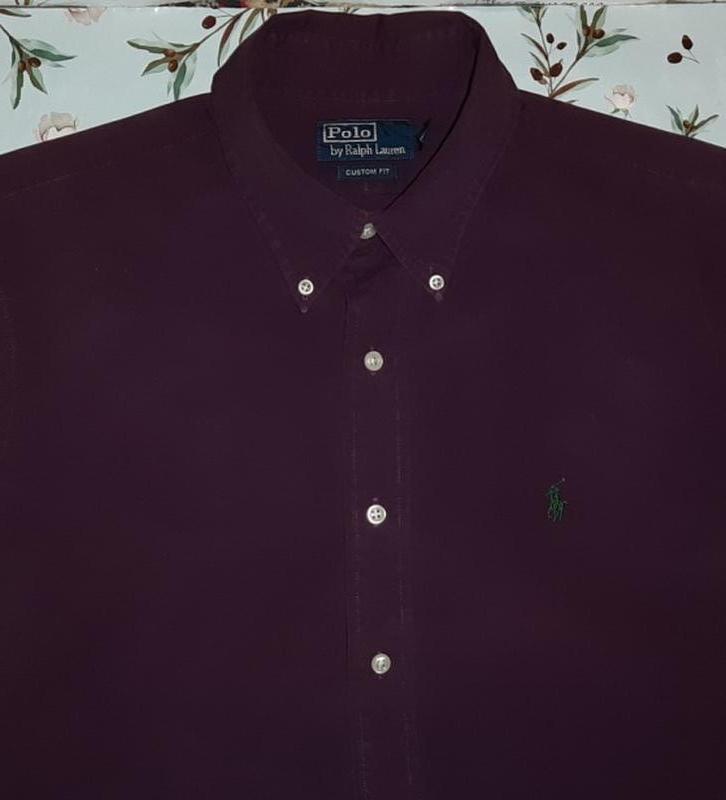 Рубашка ralph lauren оригинал, цвет бургунди, размер 46 - 48