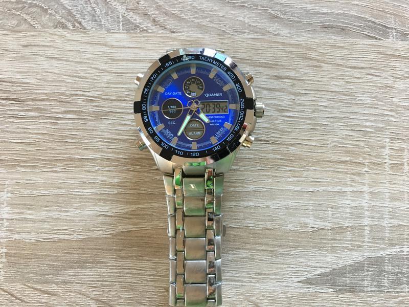 Водонепроницаемые мужские часы quamer wmn-230693 (синие)