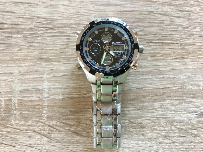 Водонепроницаемые мужские часы quamer wmn-230693 (черные)