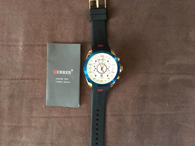 Мужские наручные спортивные кварцевые часы curren m8166 (белые)