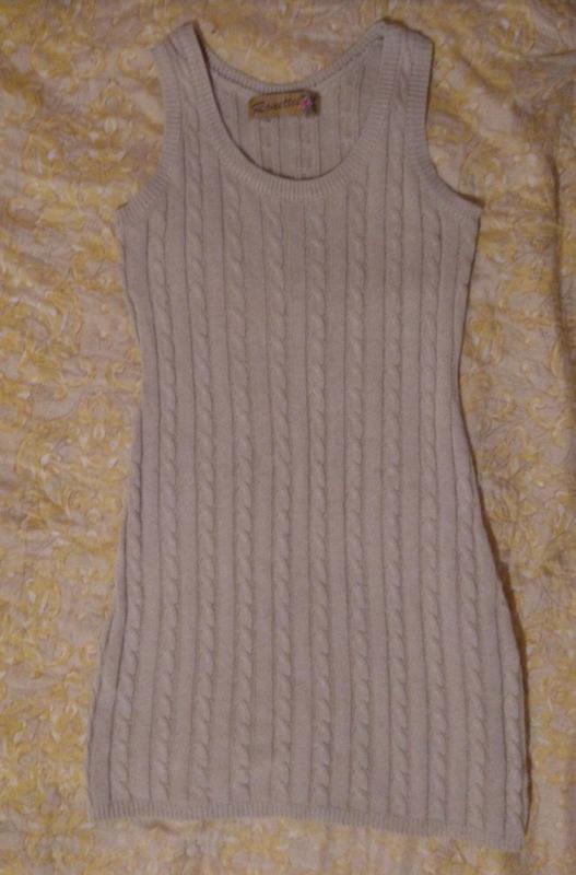 Распродажа летнего🎉 бежевая вязаная туника платье р. s-m