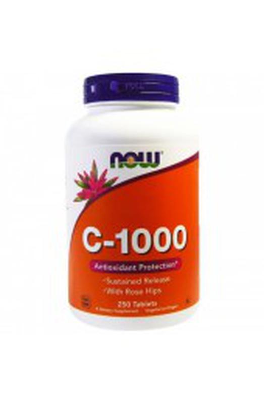Now Foods, C-1000, Витамин С, 100 растительных капсул