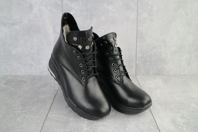 Ботинки женские emma черные (натуральная кожа, зима)