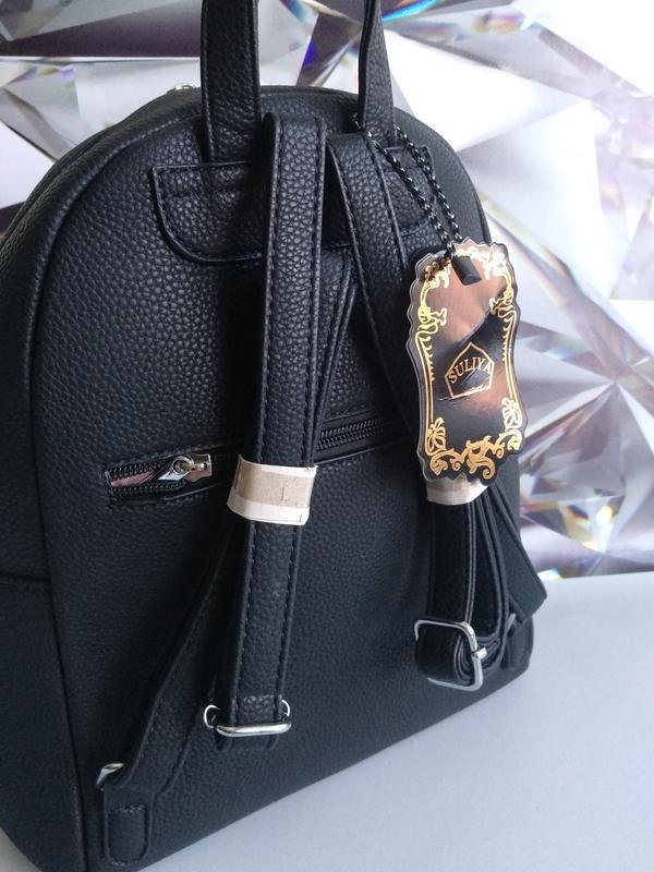 Рюкзак повседневный городской черный - Фото 3