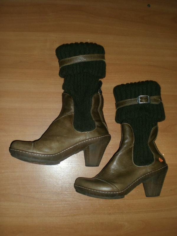 Ексклюзив! шикарні зручні чобітки аrt compan шкіра!!