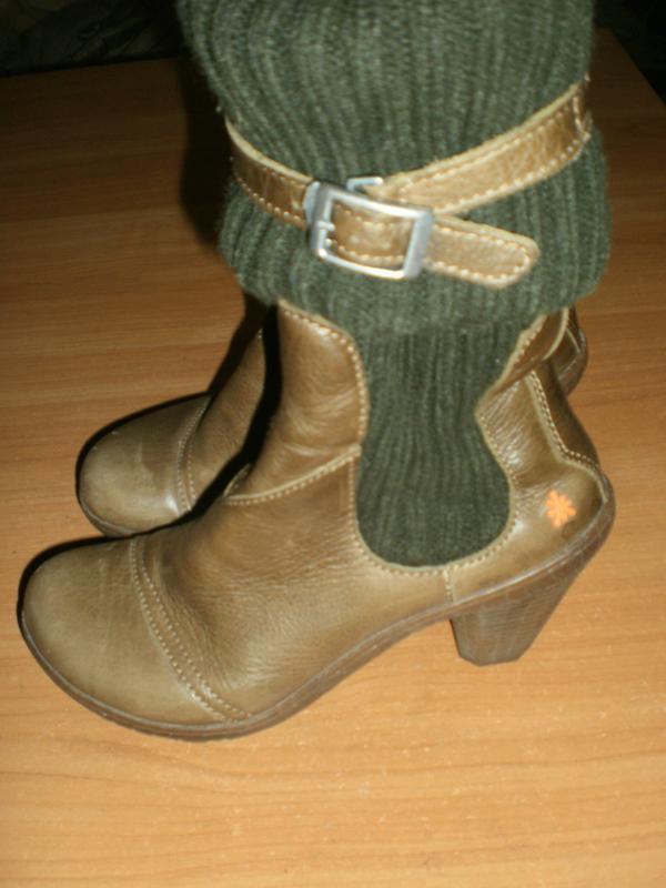 Ексклюзив! шикарні зручні чобітки аrt compan шкіра!! - Фото 2