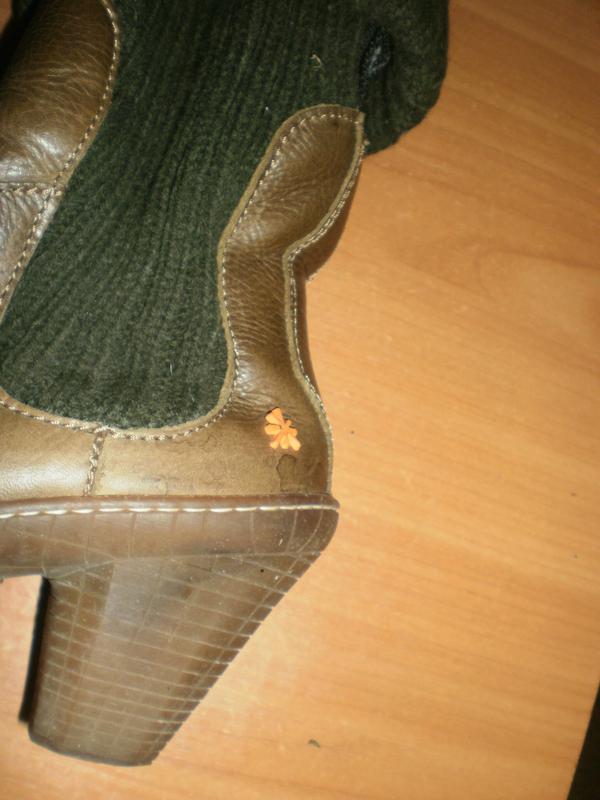 Ексклюзив! шикарні зручні чобітки аrt compan шкіра!! - Фото 4