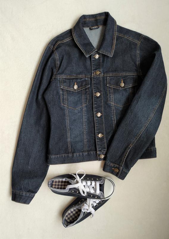 Классная джинсовая курточка, размер m