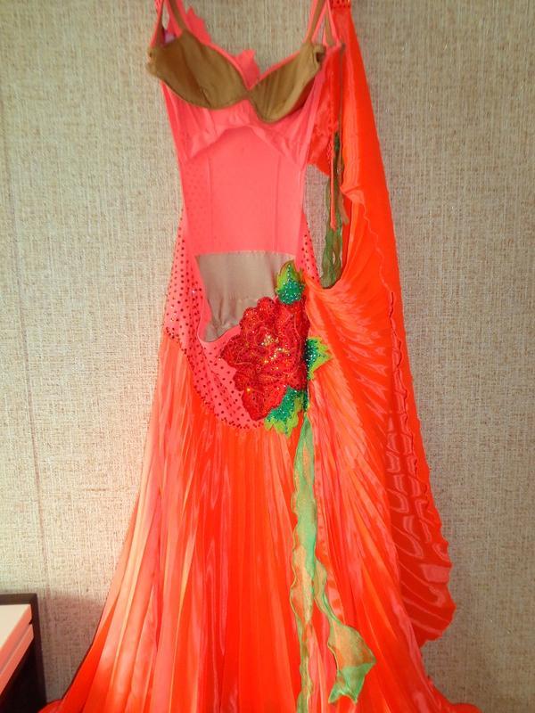 Платье для бальных танцев стандарт с кристаллами Swarovski - Фото 3
