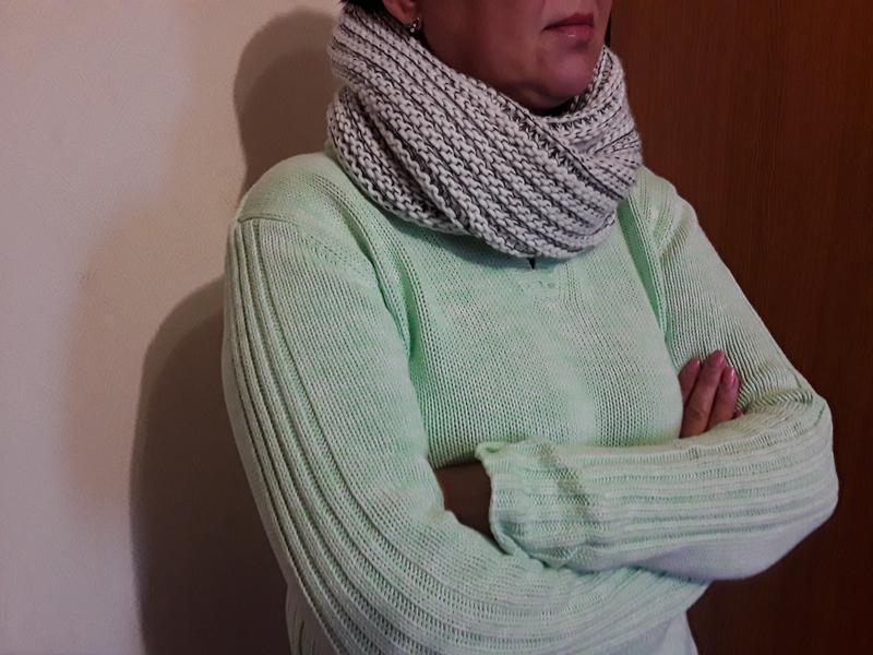 Теплый снуд шарф