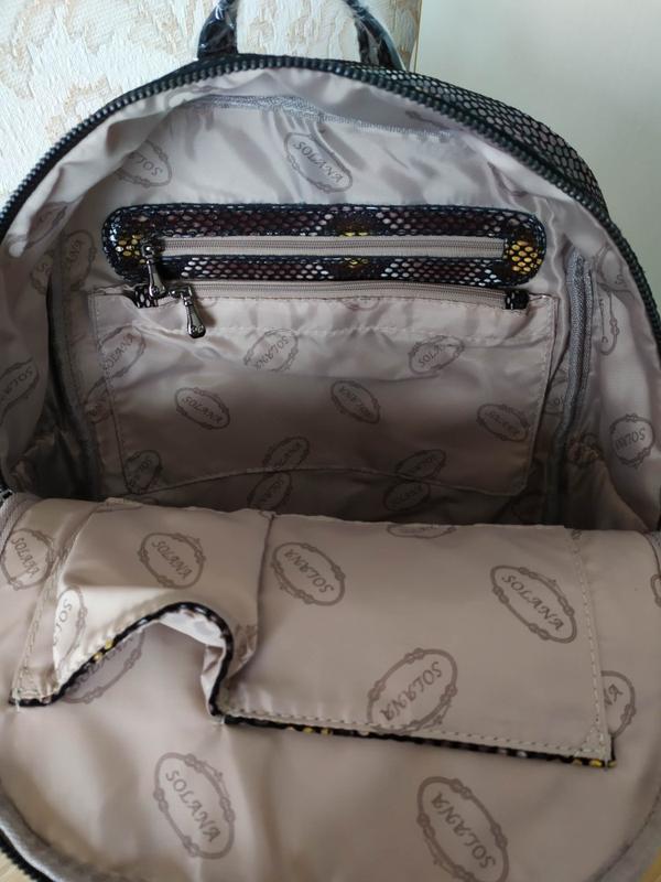 Кожаный рюкзак сумка 2021 из натуральной лазерной кожи под реп... - Фото 8