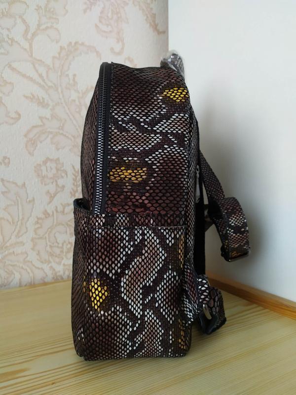 Кожаный рюкзак сумка 2021 из натуральной лазерной кожи под реп... - Фото 9