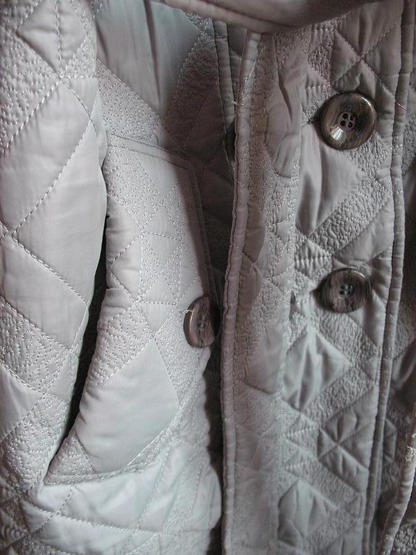 Демисезонное стеганное пальто классического покроя, тренчкот, ... - Фото 6