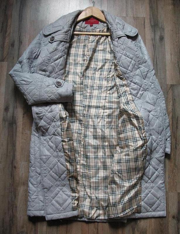 Демисезонное стеганное пальто классического покроя, тренчкот, ... - Фото 7