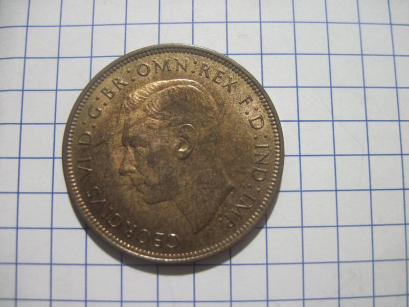Великобритания 1 пенни 1948 BU блеск