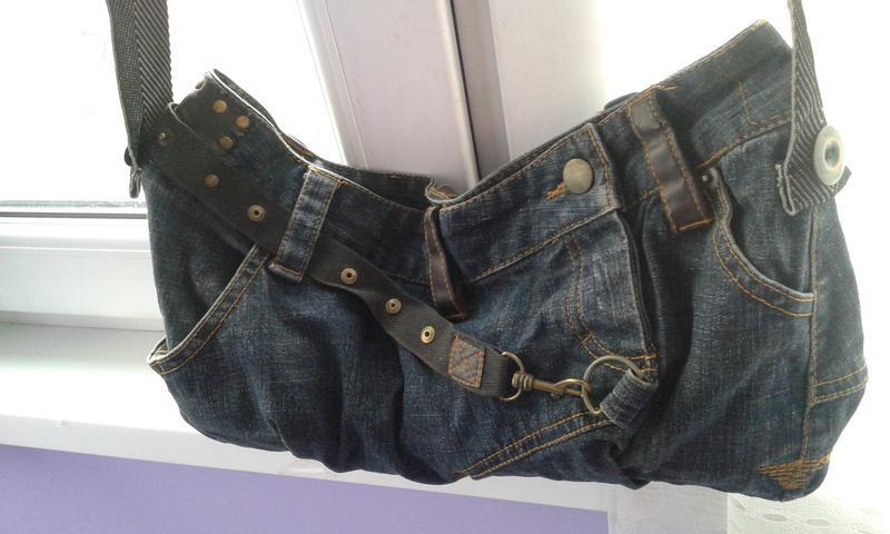 Стильная джинсовая сумка хендмейд