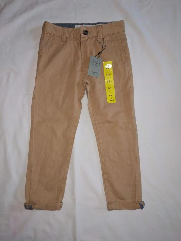 Новые котоновые брюки primark размер 110 см на 4-5 лет