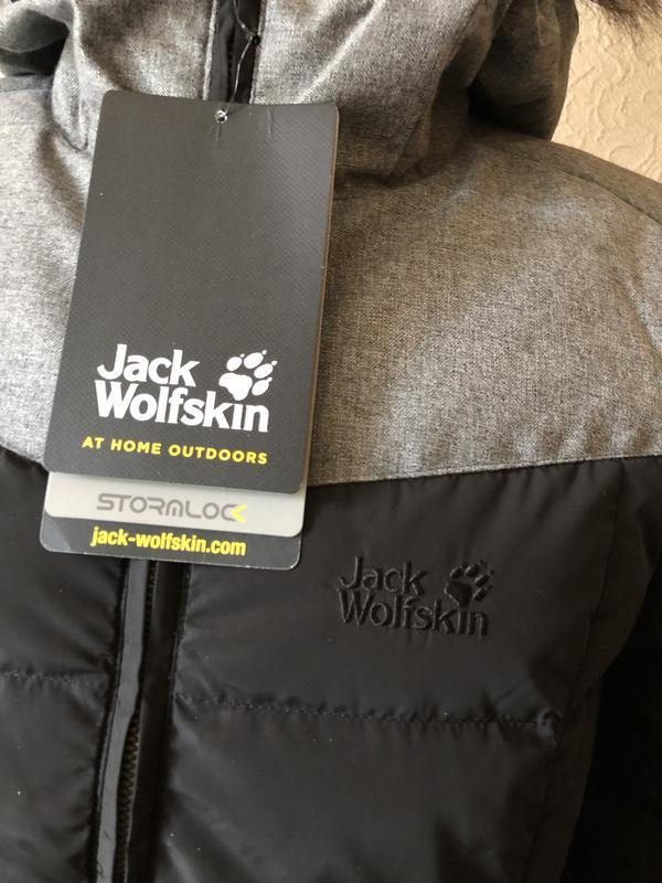 Пуховик зимний jack wolfskin women's baffin island. оригинал - Фото 10