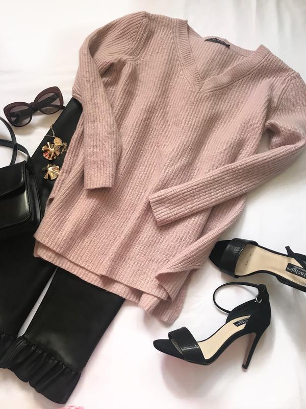Пудровый свитер из шерсти мериноса р.м