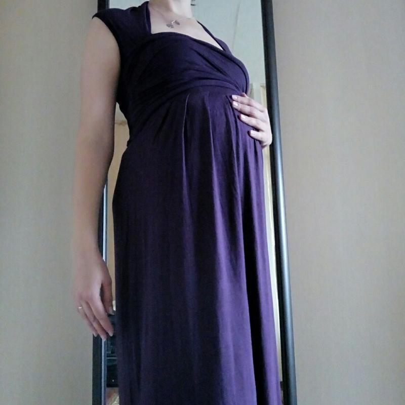 Длинное вечернее трикотажное платье для беременных