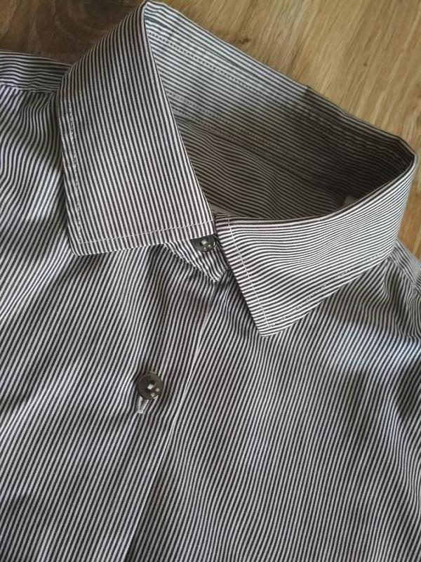 Belmonte шикарная хлопковая рубашка в мелкую полоску