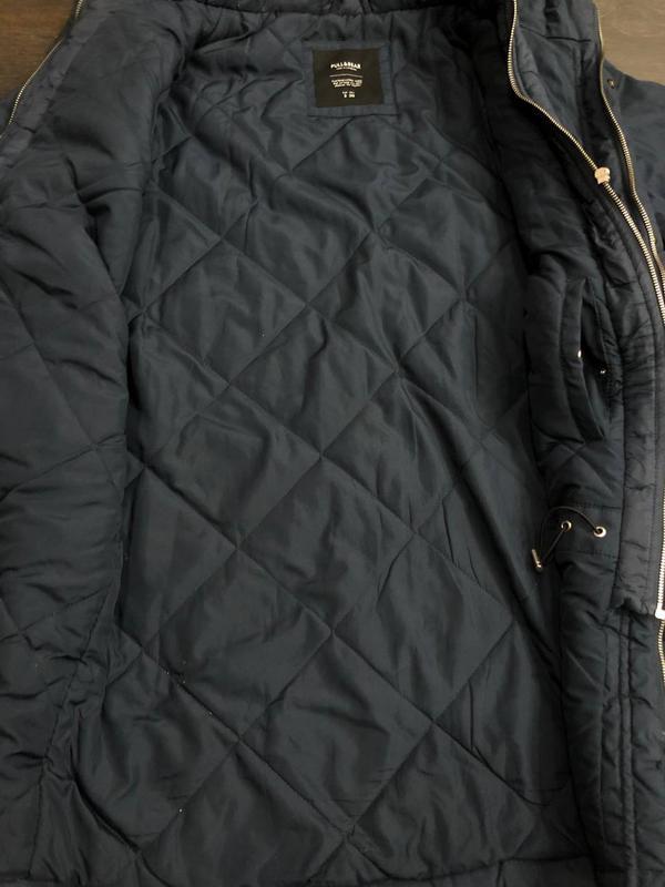Куртка мужская осень-весна (для теплой зимы). Размер S/36. Синяя - Фото 3