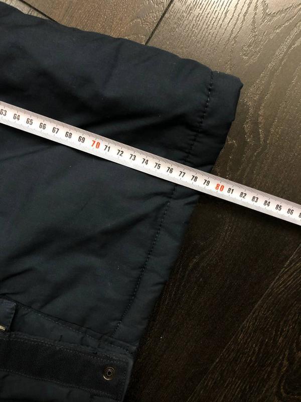 Куртка мужская осень-весна (для теплой зимы). Размер S/36. Синяя - Фото 5