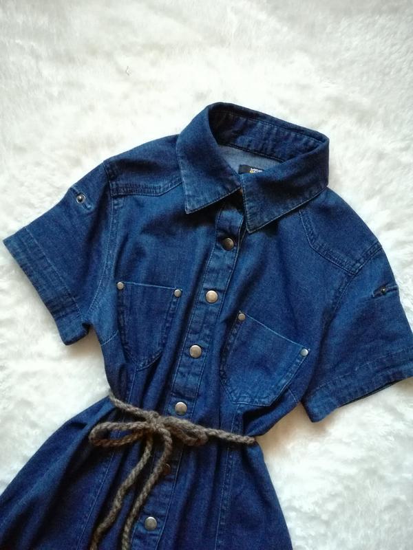 Джинсовое платье рубашка на кнопках р.34-36