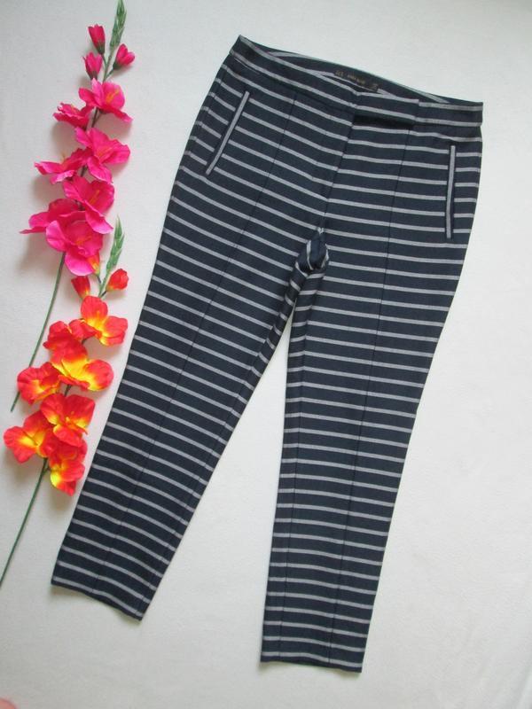 Шикарные стильные брендовые трикотажные демисезонные брюки в п...