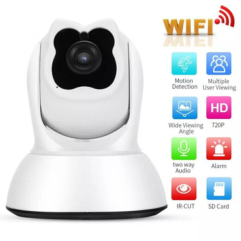 Поворотная WiFi IP-камера видеонаблюдения,ночная съемка,видеоняня