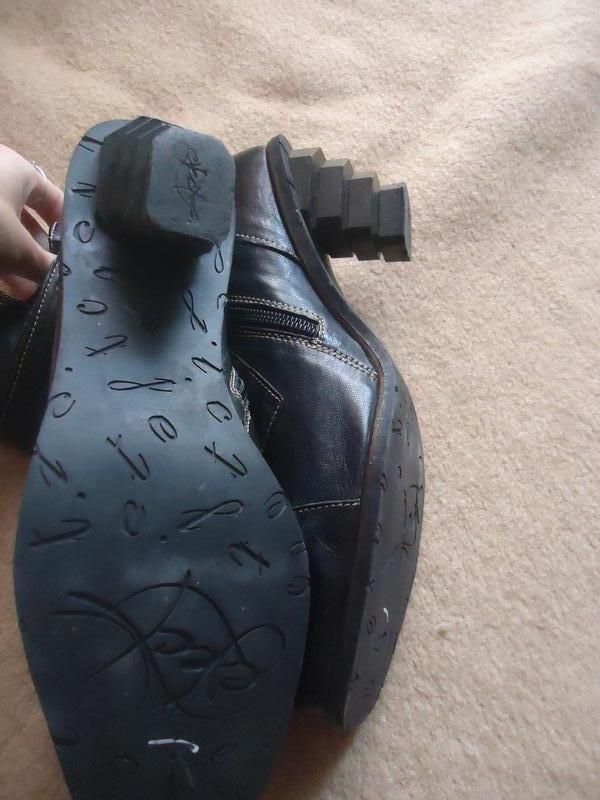 Эксклюзивные кожаные сапоги с оригинальным каблуком eject - Фото 5