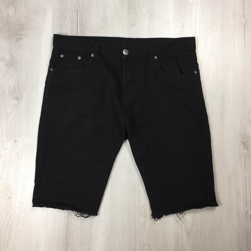 N9 шорты джинсовые  denimco черные мужские шорты джинсвовые