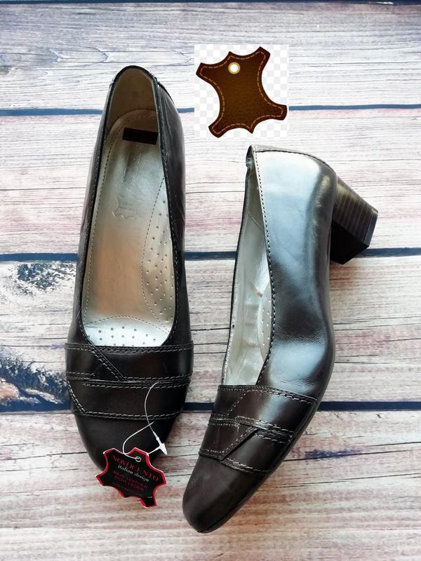 Новые итальянские туфли на широкую ногу из натуральной кожи - ...