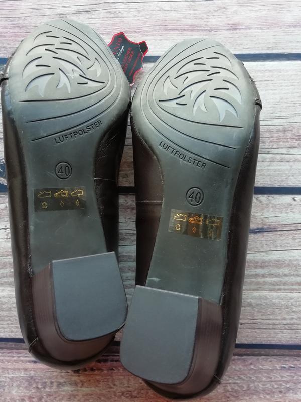 Новые итальянские туфли на широкую ногу из натуральной кожи - ... - Фото 4