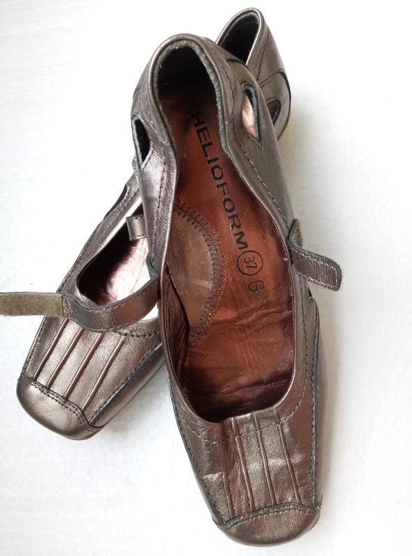 Балетки туфли от helioform из натуральной кожи, новые, р. 37, ... - Фото 5