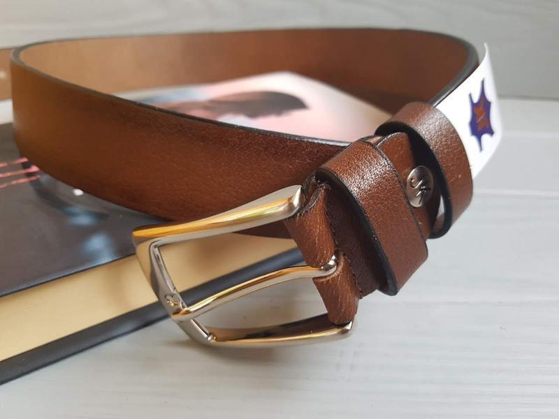 Мужской фактурный ремень пояс из натуральной итальянской кожи ... - Фото 2