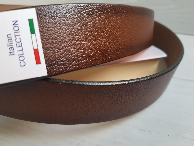Мужской фактурный ремень пояс из натуральной итальянской кожи ... - Фото 3