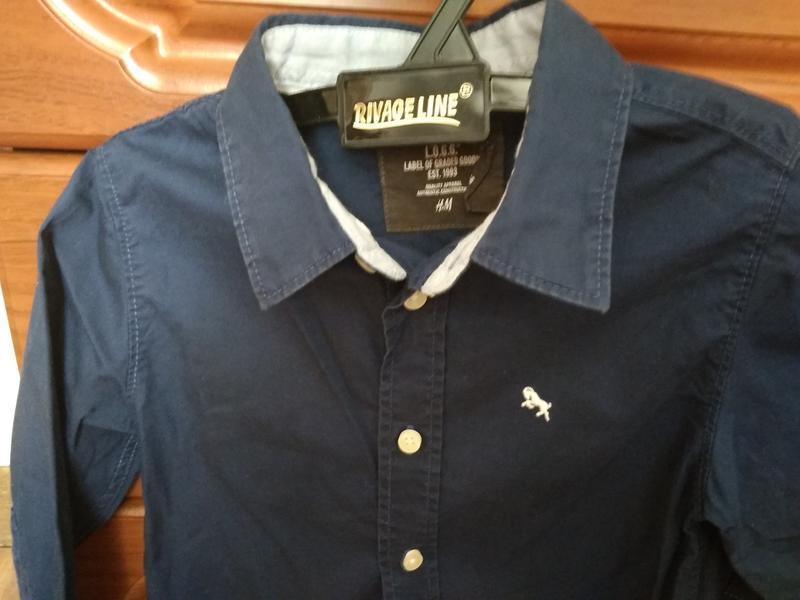 Фирменная рубашка hm 98р