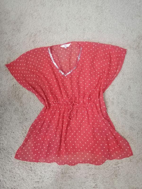 Легкая блузка-туника для девочки