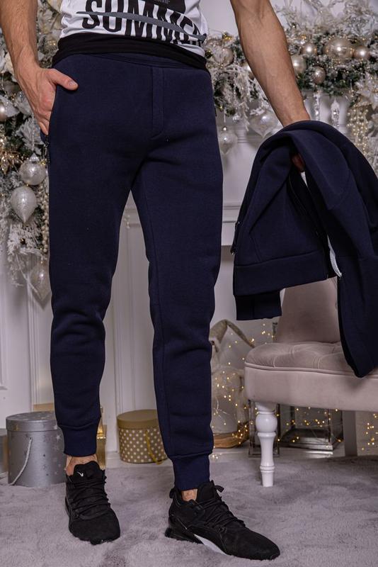 ????спортивные штаны мужские на флисе/m/l/xl/xxl/ 102r104 цвет те...