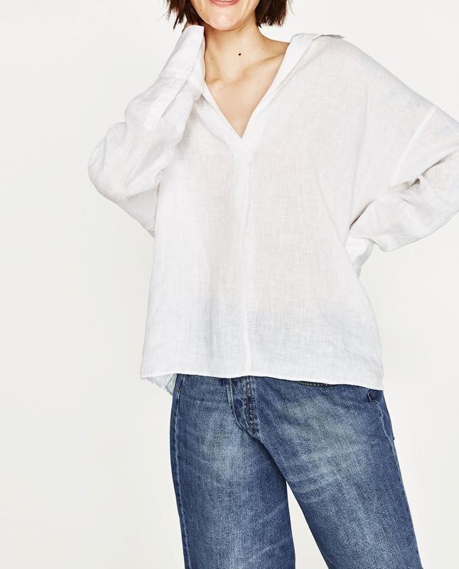Белая легкая рубашка блуза