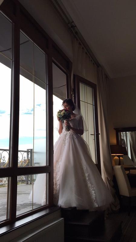 Свадебное платье украинского бренда. после химчистки