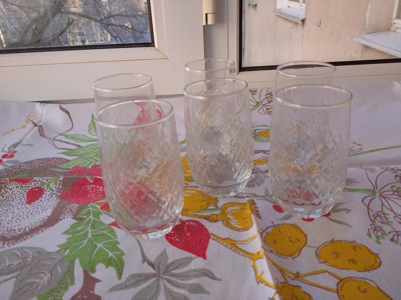 Стаканы стакан на 6 персон