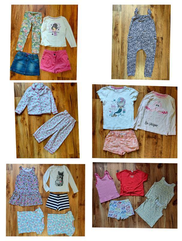 Пакет одежды на девочку 5-6 лет одним лотом пижама шорты юбки ...