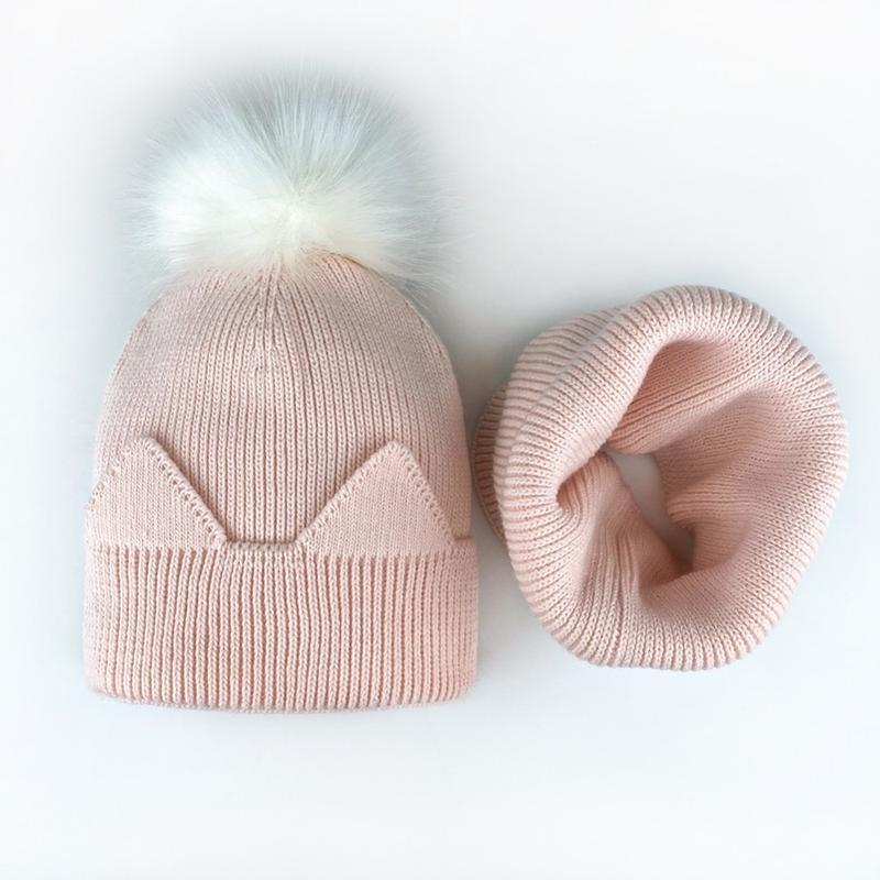 Комплект набор шапка хомут 50-56 персик