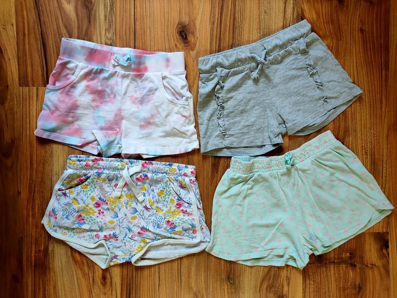 Комплект из 4 шт хлопковые шорты на 3-4 года