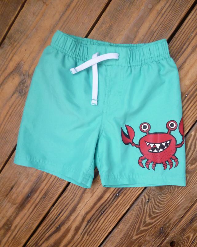 Шорты m&s на 2-3 года с крабом шорты плавательные пляжные